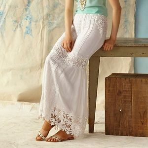 NWT Anthro Yoana Baraschi Lace Melange Maxi Skirt